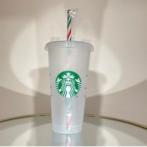 Starbucks 2020 Reusable Holiday Cold Cups W/ Straw